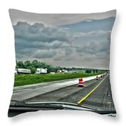 Thunder Road Throw Pillow by Alan Look