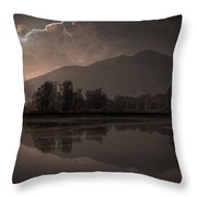 thunder storm Throw Pillow by Joana Kruse