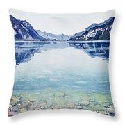 Thunersee Von Leissigen Throw Pillow by Ferdinand Hodler