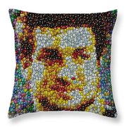 Tim Tebow Mms Mosaic Throw Pillow by Paul Van Scott