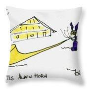 Tis Alpenhorn Throw Pillow by Tis Art