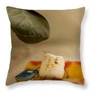 Toasting Throw Pillow by Heather Applegate