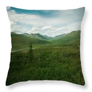 Tombstone Mountain Throw Pillow by Priska Wettstein
