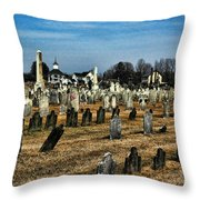 Tombstones Throw Pillow by Paul Ward
