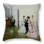 Too Early Throw Pillow by James Jacques Joseph Tissot