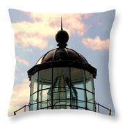 Top Of Bonita Lighthouse Throw Pillow by Kathleen Struckle