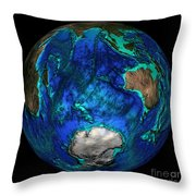 Topographical Map Of Coordinates 45 S Throw Pillow by Science Source