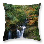 Torc Waterfall, Ireland,co Kerry Throw Pillow by The Irish Image Collection