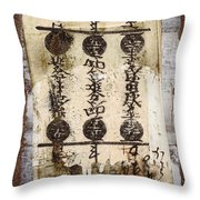 Torn Papers On Wall Number 2 Throw Pillow by Carol Leigh