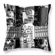 Totems Throw Pillow by Chris Dutton
