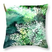 Touch Of Light 1 Throw Pillow by Anil Nene