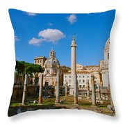 Trajan's Market Throw Pillow by Eric Tressler