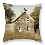 Trapped In Past Tense Throw Pillow by Desiree Paquette
