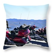 Traveling In Style Throw Pillow by Susan Leggett