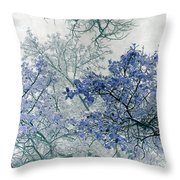 Trees Above Throw Pillow by Rebecca Margraf