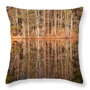 Trees In The Comfort Of Trees Throw Pillow by Karol Livote
