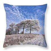 Trees in the Snow Throw Pillow by John Farnan