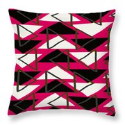 Triangles Throw Pillow by Louisa Knight