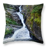 Tricky Falls Throw Pillow by Marty Koch