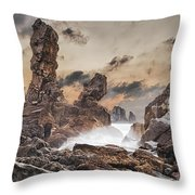 Trident Throw Pillow by Evgeni Dinev