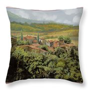 Trittico-il Prossimo Autunno Throw Pillow by Guido Borelli