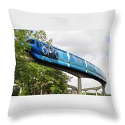 Tron A Rail Throw Pillow by David Lee Thompson