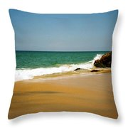 Tropical Sandy Beach Throw Pillow by Jasna Buncic