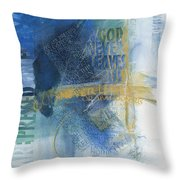 Troubles Throw Pillow by Judy Dodds