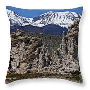 Tufa At Mono Lake California Throw Pillow by Garry Gay