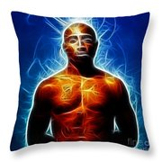 Tupac Shakur Throw Pillow by Paul Ward
