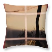 Turn Left At Dawn Throw Pillow by Susan Capuano