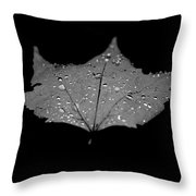 Turn Over A New Leaf Throw Pillow by Betsy Knapp