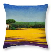 Tuscan Landcape Throw Pillow by Trevor Neal