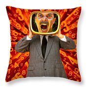Tv Man Throw Pillow by Garry Gay