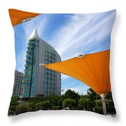 Twin Towers Throw Pillow by Carlos Caetano