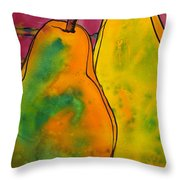 Two Pears Throw Pillow by Blenda Studio