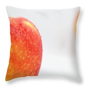 Two red gala apples Throw Pillow by Paul Ge