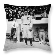 Ty Cobb Throw Pillow by Bill Cannon
