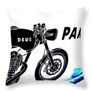 Ubud Motorbike Parking  Throw Pillow by Funkpix Photo Hunter