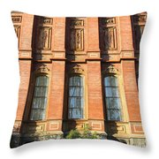 UC Berkeley . South Hall . Oldest Building At UC Berkeley . Built 1873 . 7D10111 Throw Pillow by Wingsdomain Art and Photography