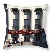 UC Berkeley . Sproul Hall . Sproul Plaza . Occupy UC Berkeley . 7D9991 Throw Pillow by Wingsdomain Art and Photography