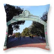 Uc Berkeley . Sproul Plaza . Sather Gate . 7d10033 Throw Pillow by Wingsdomain Art and Photography