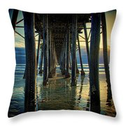 Under The Boardwalk Throw Pillow by Chris Lord