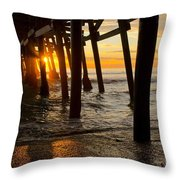 Under The Pier Throw Pillow by Athena Lin