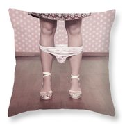 Underpants Throw Pillow by Joana Kruse