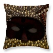 Unmask You Masquerades Dont Last Forever Throw Pillow by Pepita Selles