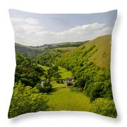 Upperdale From Monsal Head Throw Pillow by Rod Johnson