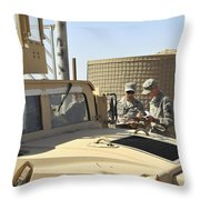 U.s. Army Soldiers Take Accountability Throw Pillow by Stocktrek Images