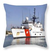 U.s. Coast Guard Cutter Uscgc Seneca Throw Pillow by Stocktrek Images