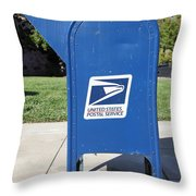 US Mail Box . 5D18813 Throw Pillow by Wingsdomain Art and Photography